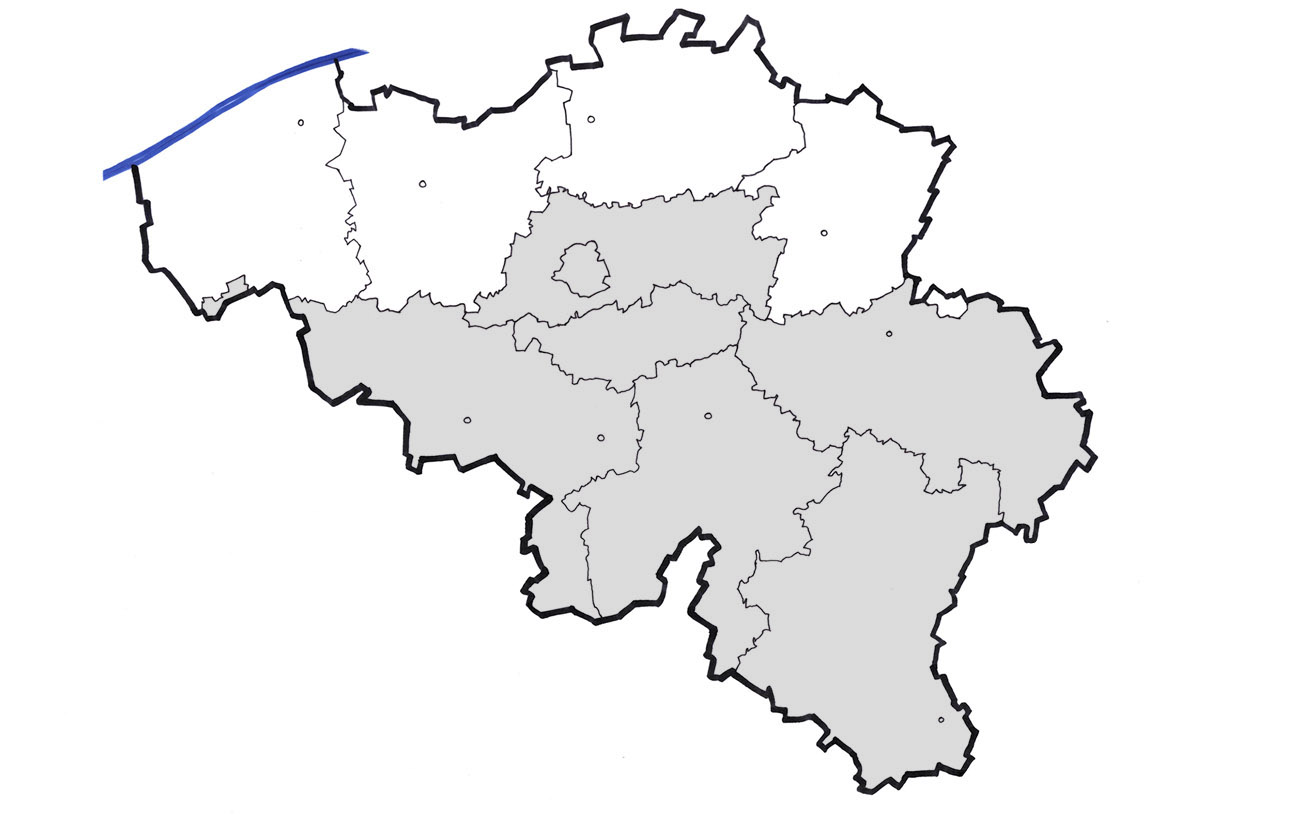 Carte belgique